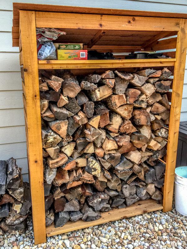 Cedar Storage Rack for Firewood